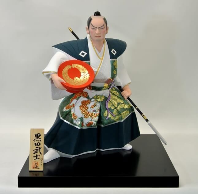 Hakata dolls, a Japanese doll craft, Samurai doll