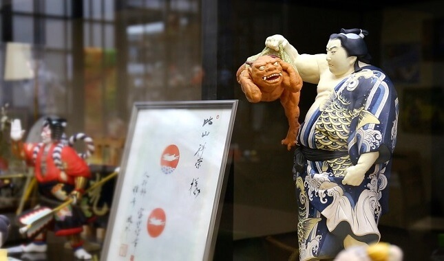 Hakata dolls, a Japanese doll craft, Sumo wrestler doll
