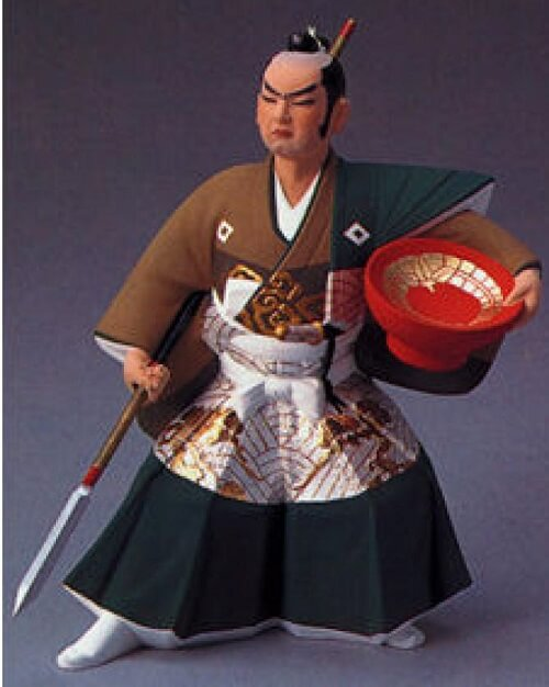 Hakata dolls, a Japanese doll craft, sample of higher price doll, Samurai