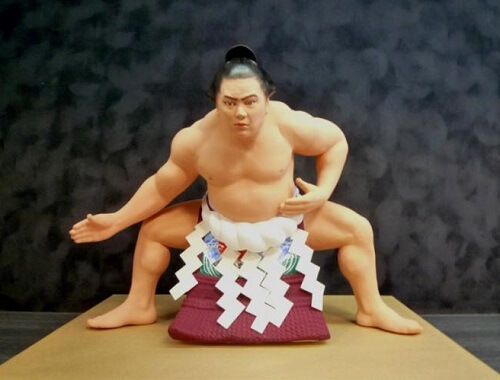 Hakata dolls, a Japanese doll craft, sample of higher price doll, Sumo wrestler