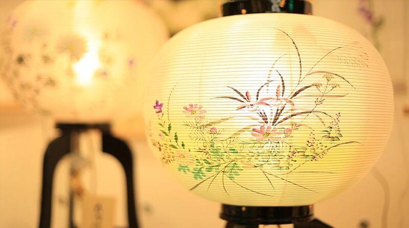 Yame paper lantern, a traditional Japanese craft, translucent lantern body