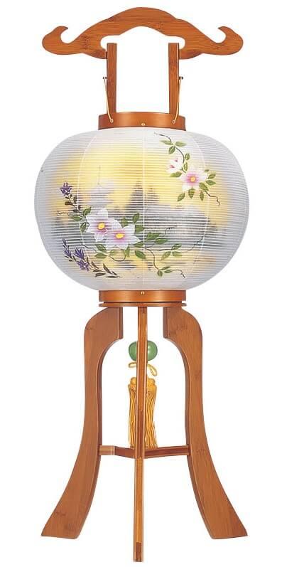 Yame paper lantern, a traditional Japanese craft, single bon lantern