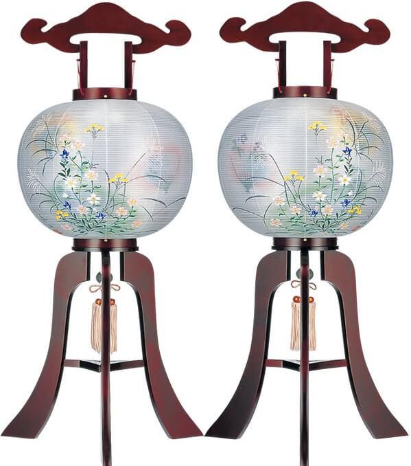 Yame paper lantern, a traditional Japanese craft, pair bon lanterns