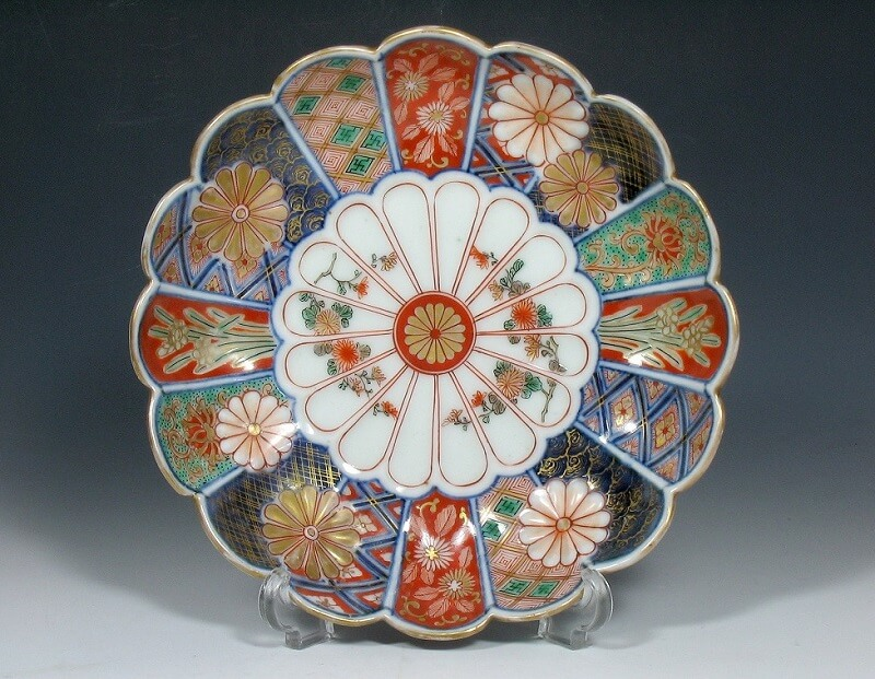Arita Imari porcelain, a traditional Japanese craft, beautiful large dish