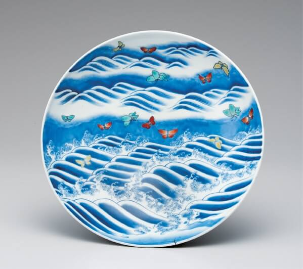 Arita Imari porcelain, a traditional Japanese craft, Iro-Nabeshima style plate