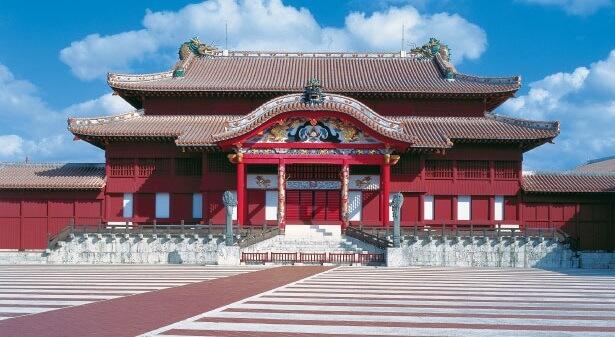 Shuri castle in Okinawa prefecture, ancient Ryukyu kingdom