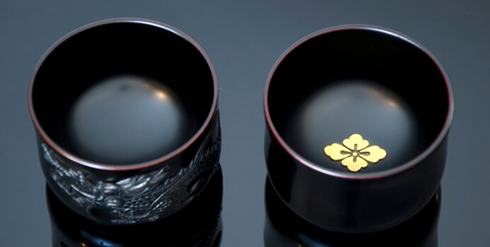 Ryukyu lacquerware, a traditional Japanese craft, Sake cups