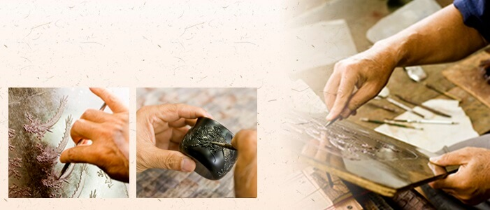 Ryukyu lacquerware, a traditional Japanese craft, making process of Sake cups