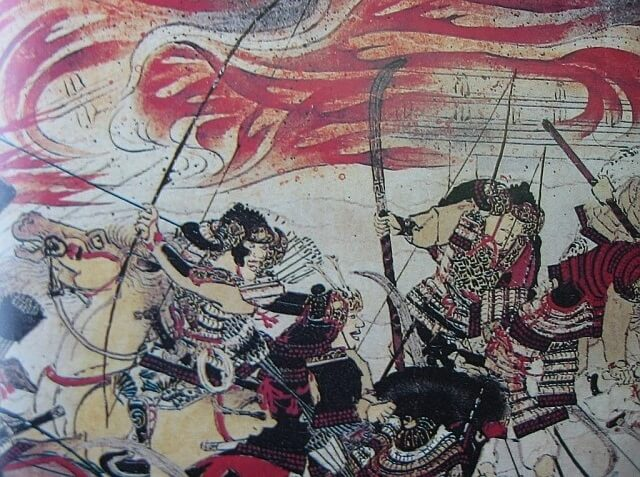 Ukiyo-e depicts Samurai Armor and Helmet, Kabuto and Yoroi, 1