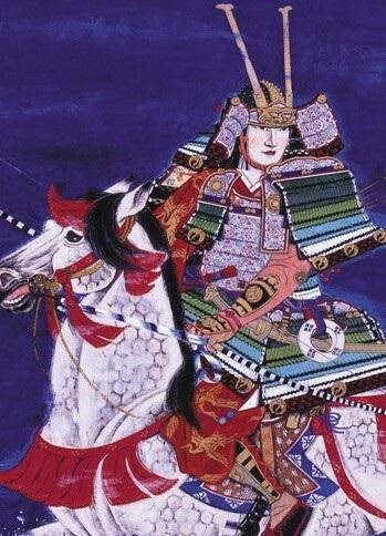 Ukiyo-e depicts Samurai Armor and Helmet, Kabuto and Yoroi, 2