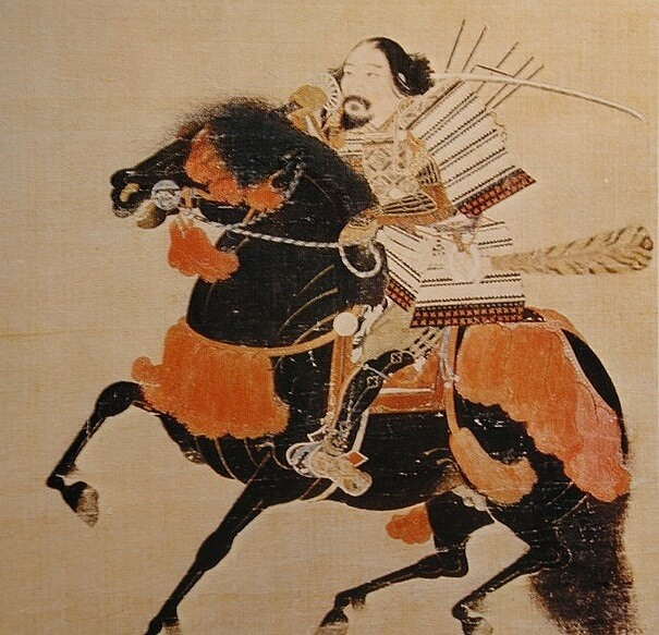 Ukiyo-e depicts Samurai Armor and Helmet, Kabuto and Yoroi, 3