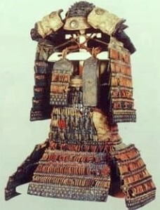 real Samurai armor and helmet, Aka-kawaodoshi, Japan's national treasure