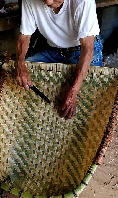 ways of using Japanese bamboo, large basket