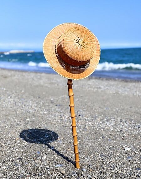 ways of using Japanese bamboo, stick and hat