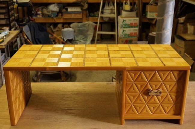 ways of using Japanese bamboo, working desk