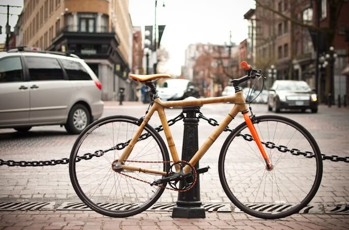 ways of using Japanese bamboo, bike frame