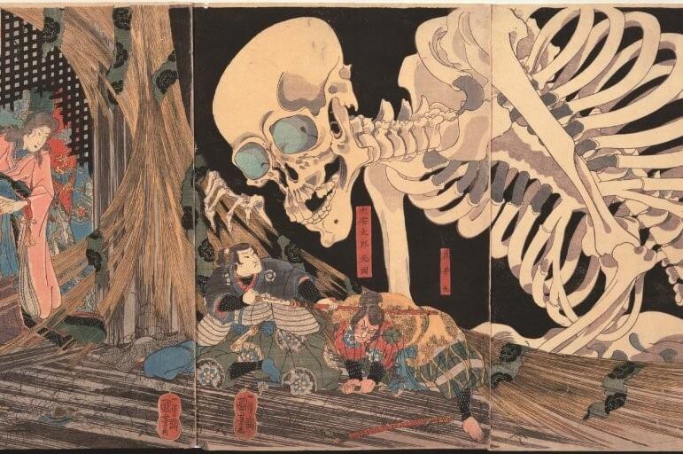 Ukiyo-e about Japanese bamboo
