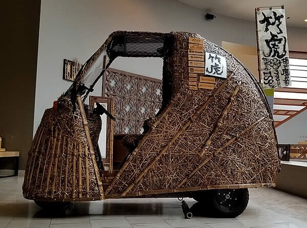 ways of using Japanese bamboo, car frame