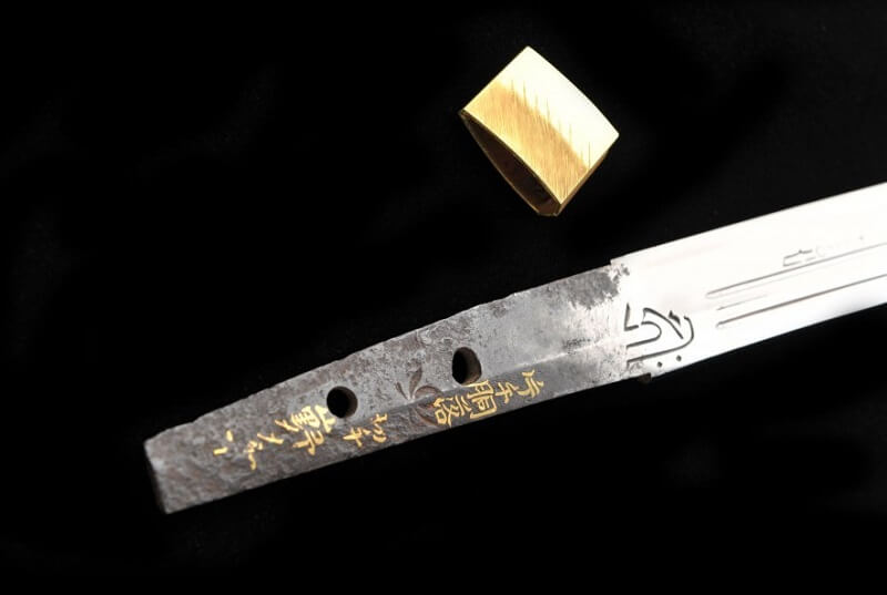 details of a Japanese sword of national treasure