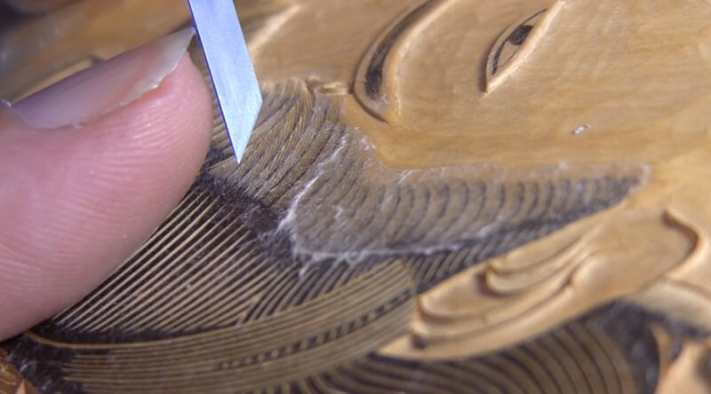 Ukiyo-e, Japanese woodblock print, making process of carving