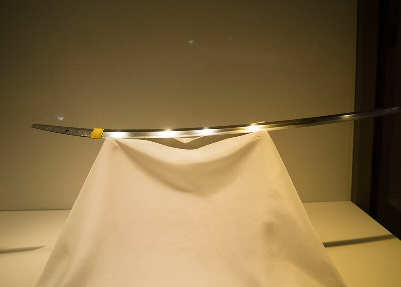 A legendary Japanese sword, national treasure Dojigiri Yasutsuna, the blade