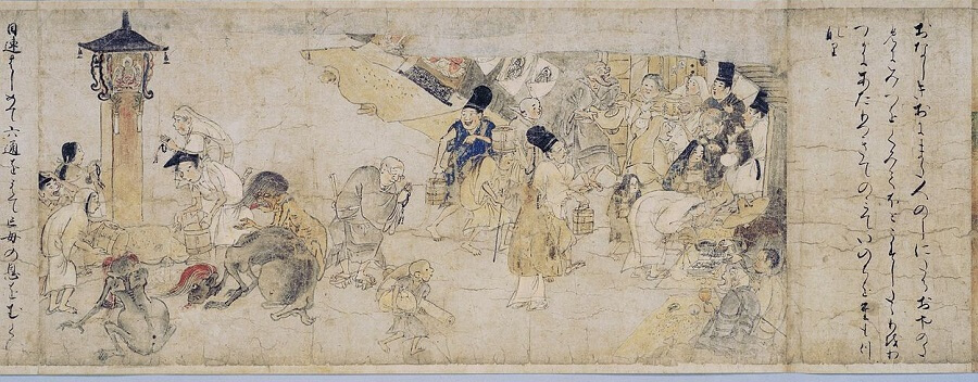 Japanese hanging scroll, a Japanese art, entire view