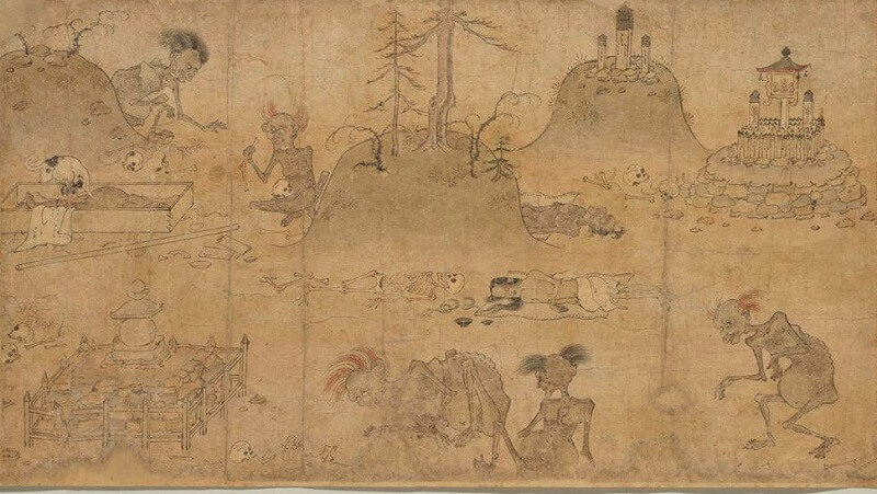 Japanese hanging scroll, a Japanese art, details 2
