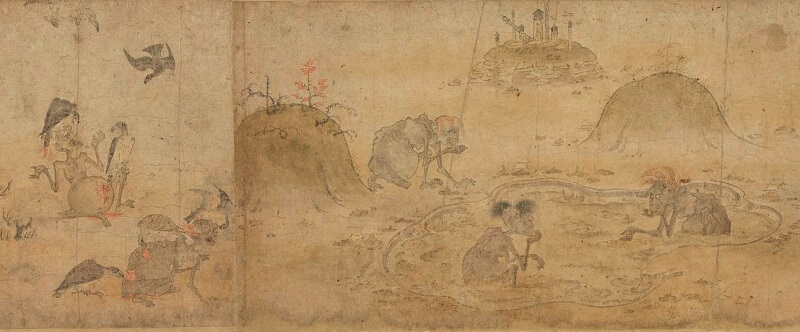 Japanese hanging scroll, a Japanese art, details 3