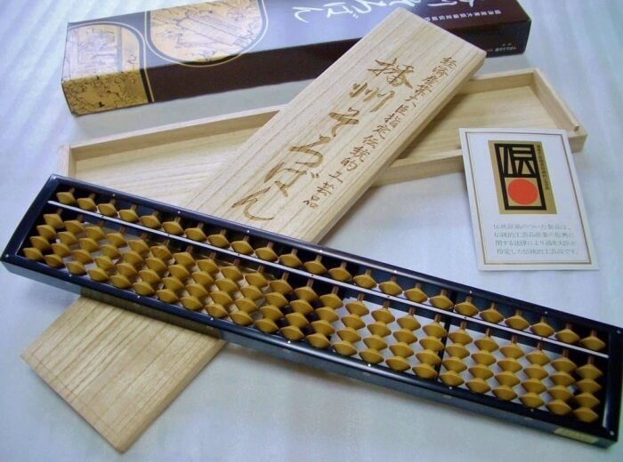 arts and crafts in Japan, especially Hyogo prefecture, traditional calculator Soroban