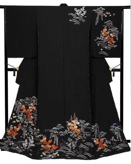 Kimono, Japanese traditional cloth, completed Kimono for women