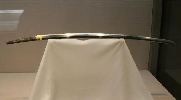 Masamune, Japan's greatest Katana sword, sword blade in a showcase