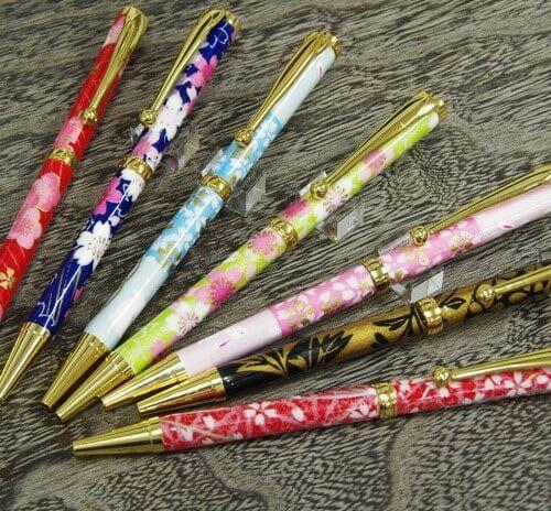 Mino washi ballpoint pens