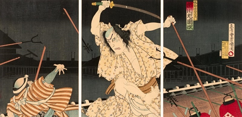 Muramasa, a cursed Japanese sword, related story on Ukiyo-e 3