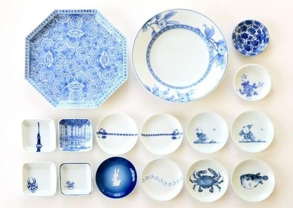 Japanese crafts of porcelain dishes in Nagasaki
