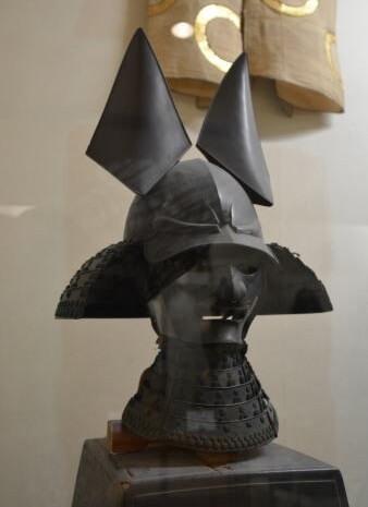 Samurai helmet, Japanese Kabuto, simple colored Kabuto