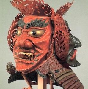 Samurai helmet, Japanese Kabuto, daemon-like