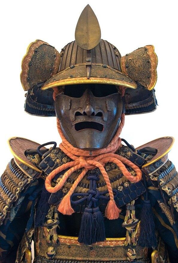 Samurai helmet, Japanese Kabuto, authentic full set of Samurai armour