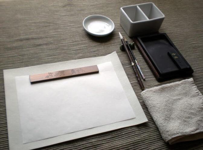 drawing set for Japanese suibokuga