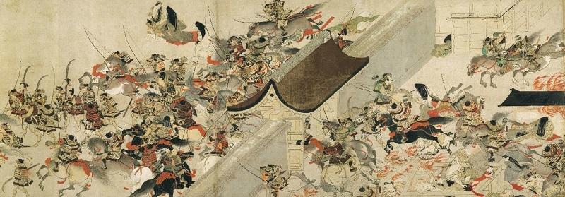 Japanese Samurai Armor, Tatenashi Yoroi, National Treasure of Japan, related painting