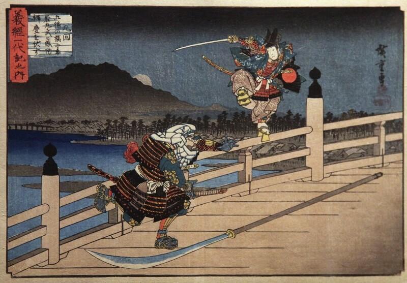 Ukiyo-e, Japanese woodblock print art, benkei