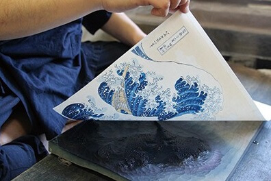 Ukiyo-e, Japanese woodblock print art, making process of printing 1