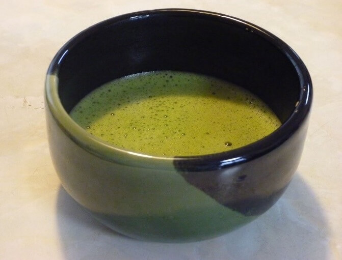 Japanese Tea ceremony, a cup of green tea