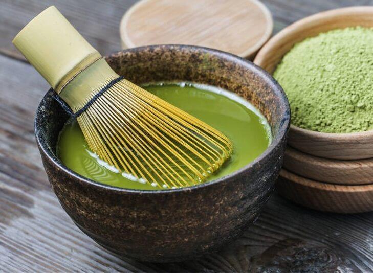 Japanese Tea ceremony, making a Japanese green tea