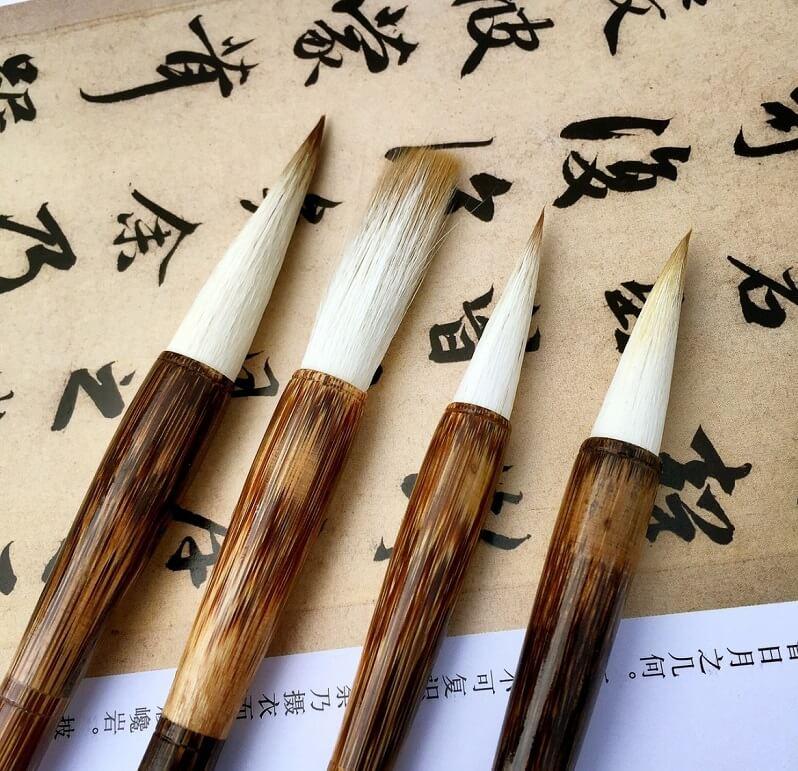 Shodo brush for Japanese calligraphy writing Shodo, some types of brushes