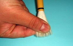 Shodo equipment, massaging brush