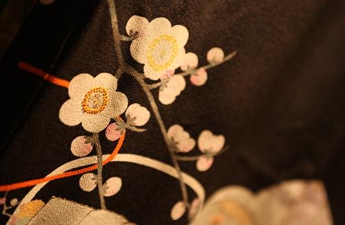 Kyo Yuzen Kimono fabric, a Japanese traditional craft, details of pattern 2