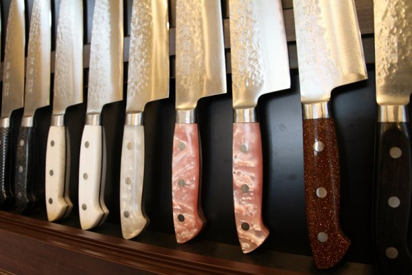 Toshu Made-to-order Japanese chef knives, handle variations