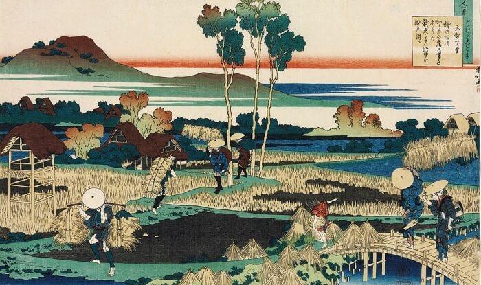 a Hokusai's masterpiece of Ukiyo-e