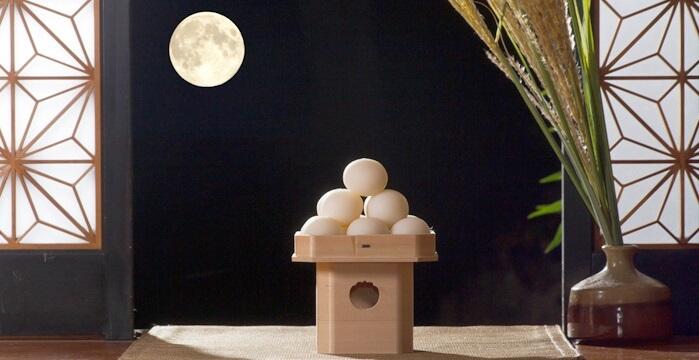 Japanese moon viewing, dumpling in pyramid shape