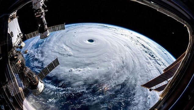 severe typhoon looked from space